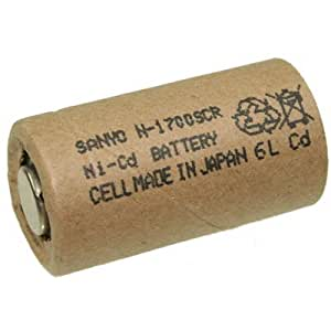 Sanyo N-1700SCR battery Sub-C single cell, 1700mAh
