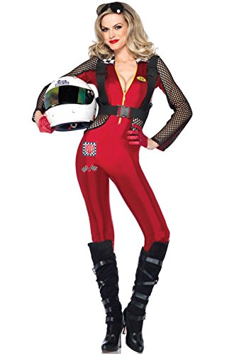 [Mememall Fashion Pitstop Penny Speed Racer Jumpsuit Nascar Adult Costume] (Nascar Racer Costume)