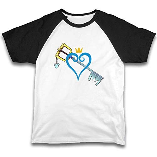 Kid T Shirt Heart and Sword 3D Tee Baseball Short Sleeve Cotton Shirts Top for Boys Girls Kids Black