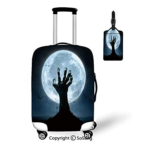 Halloween Decorations Travel Suitcase Protective Cover,Fit for 23-26