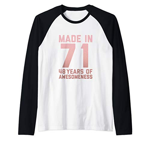 48th Birthday Shirt Mom Aunt Gift Idea for 48 Year Old Women Raglan Baseball Tee (Birthday Ideas For 48 Year Old Woman)