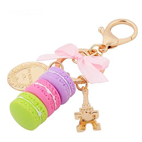 (Giftale Eiffel Tower Handbag Accessories Macaroon Key Chain for Women Bag Purse Charms,#619-1)