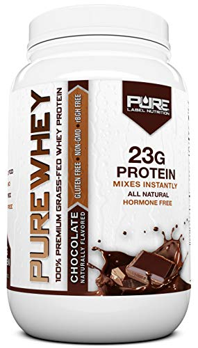 Grass Fed Whey Protein Powder   Chocolate 2lb Grass Fed Whey   100% Natural Whey w/No Added Sugars   rBGH Free + GMO-Free + Gluten Free + Preservative Free   Pure Whey