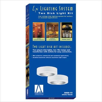 Sea Gull Lighting Plug - Sea Gull Lighting 9888-15 Ambiance LX Two-Light Plug-in Disk Kit, White