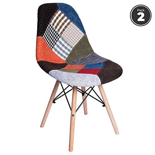 regalosMiguel - Packs Sillas Comedor - Pack 2 Sillas Tower Patchwork - Patchwork Colores: Amazon.es: Hogar