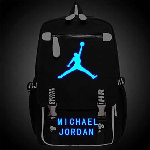 797f9ab8b165 Kayisamo Michael Jordan Cosplay Basketball Fans Luminous Backpack School Bag   Amazon.co.uk  Computers   Accessories