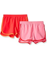 Amazon Essentials - Pack de 2 pantalones cortos deportivos para correr de niña