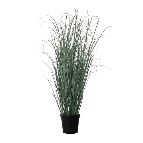 Deutschmade Artificial Plant, Fake Grass Bush including black Pot, 32'' by Deutschmade