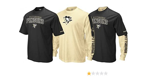 cb614dceb Amazon.com   Pittsburgh Penguins NHL 2010 Reebok 3 in 1 T-Shirt Combo    Sports Related Merchandise   Sports   Outdoors