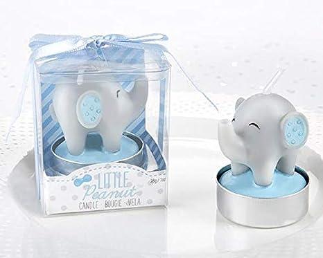 Lote 14 Velas Bautizo Elefante en caja de regalo. Velas para ...