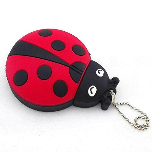Aneew Red Pendrive 32GB U Disk Ladybug Insect USB Flash Drive Memory Thumb