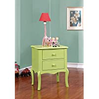 Furniture of America CM-AC325AG Lexie Apple Green Nightstand