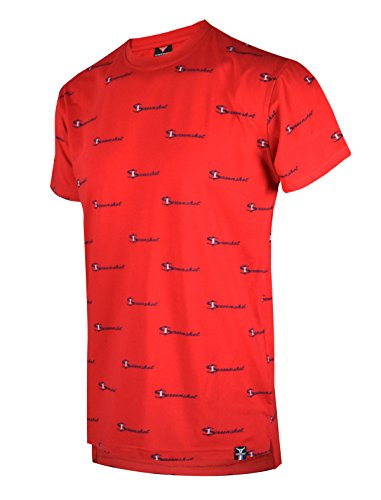 SCREENSHOT SCREENSHOTBRAND-S11811 Mens Hipster Hip-Hop Premium Urban Tees - Stylish Street Fashion Print T-Shirt - Red - XLarge