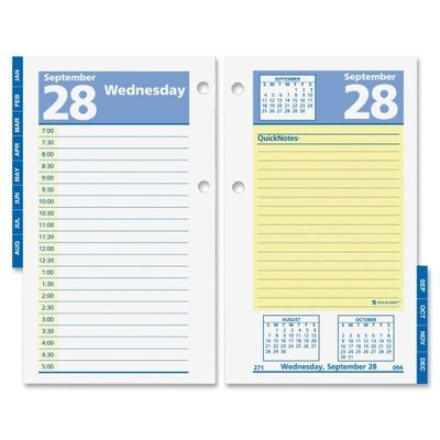 AT-A-GLANCE E517-50 QuickNotes Recycled Desk Calendar Refill, 3 1/2'' x 6'', 2015