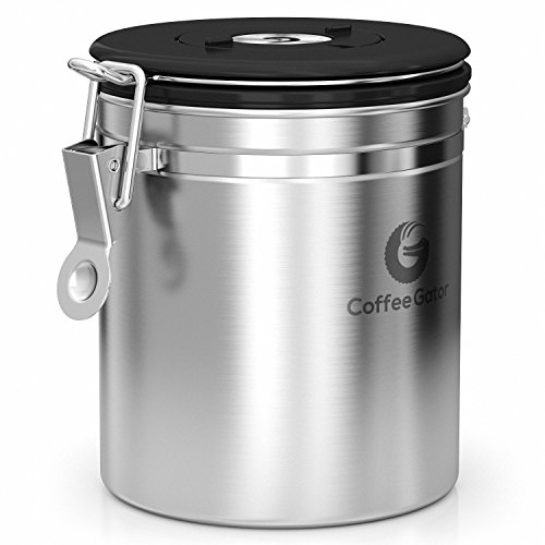Coffee Gator Stainless Steel Container Canister With Co2