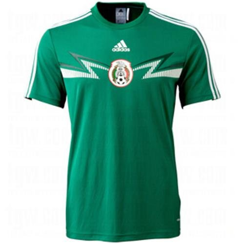Mexico Training Jersey - Adidas Mexico Replica Home Tee (Medium)