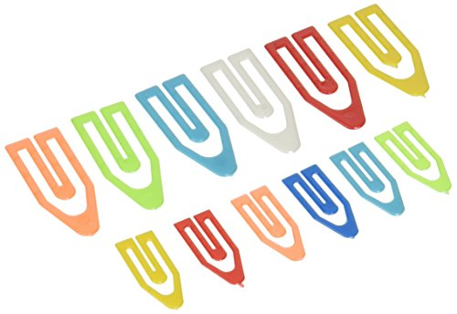 OfficemateOIC Plastic Paper Clips, Assorted Sizes, 250 Small, 50 Medium, 25 Large (99904) Photo #3