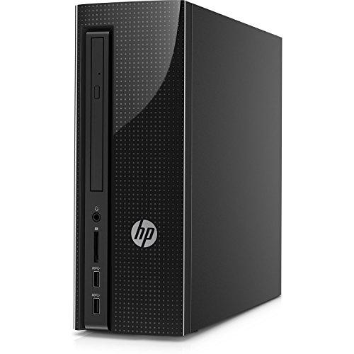 HP Slimline Desktop Computer, Intel Pentium J4205, 4GB RAM, 1TB hard drive, Windows 10 (270-a010, Black) by HP (Image #1)