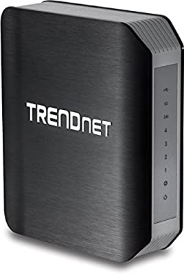 TRENDnet Wireless AC1750 Dual Band Gigabit Router with USB Share Port, TEW-812DRU Version 1.0R (Certified Refurbished)