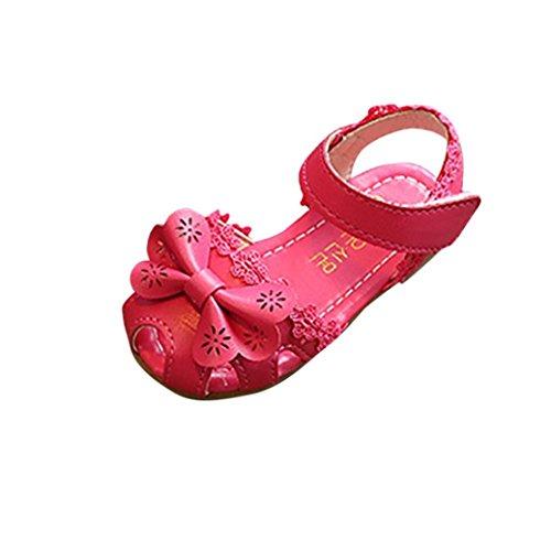 bobo4818 Ballerina Babyschuhe Baby Mädchen Krabbelschuhe Rutschsicheren Baby Schuhe Hot Pink