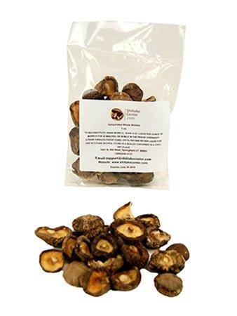(Dried Whole Shiitake Mushrooms - 1 Oz. Bag - Dehydrated Edible Gourmet Lentinula Edodes Fungi: Shitake)