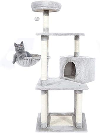 Plataforma De Salto para Gatos Grandes De Cinco Pisos, Muebles para Gatos, Estructura De Escalada para Gatos, Sisal, Árbol De Gatos, Nido De Gato, Tabla para Rascar Gatos, 50X41X120cm: Amazon.es: Hogar