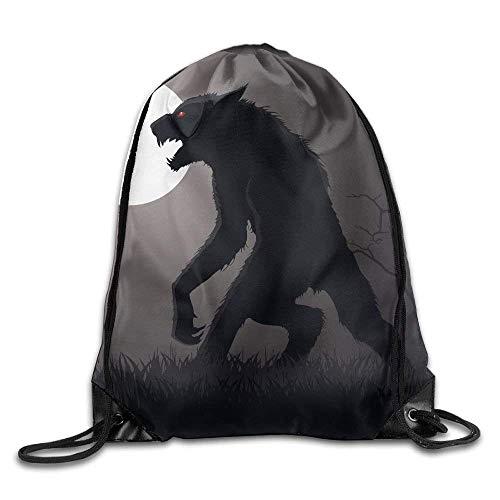 Makayla Riley Lurking Werewolf Print Eco-Friendly Luggage Drawstring Backpack Rucksack Shoulder Bags Gym Bag Sport Bag ()