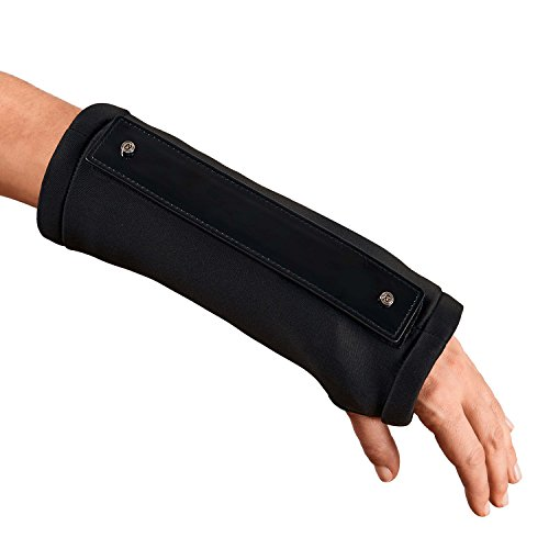 Cast Style Designer Arm Cast Cover with Detachable Patent Décor (Left Hand), Orthopedic Product Accessories