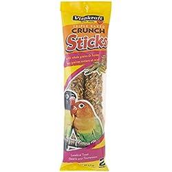 Vitakraft Lovebird Whole Grains & Honey Treat Sticks 2 Pack, 5.7 Ounce