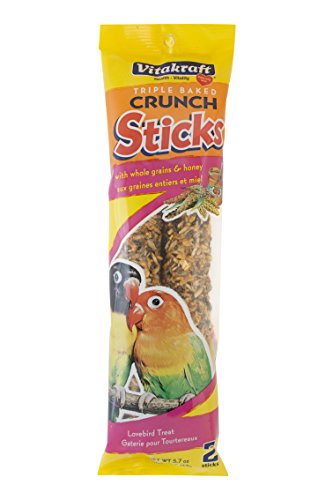 Vitakraft Lovebird Whole Grains & Honey Treat Sticks 2 Pack, 5.7 Ounce