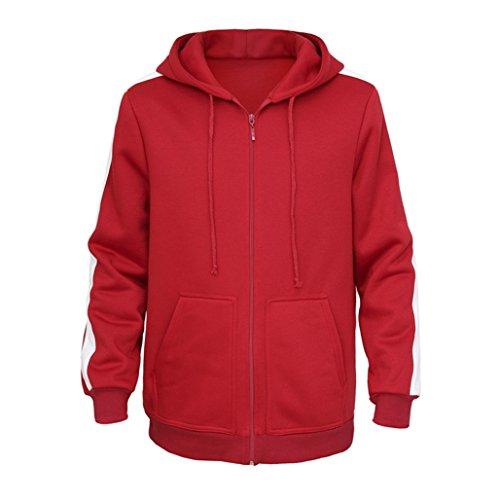 Migue Red Zip Up Hoodies Fleece Sweatshirts Cosplay Costumes for Men]()