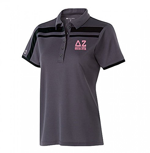 (Delta Zeta Charge Polo X-Large Carbon/Black)