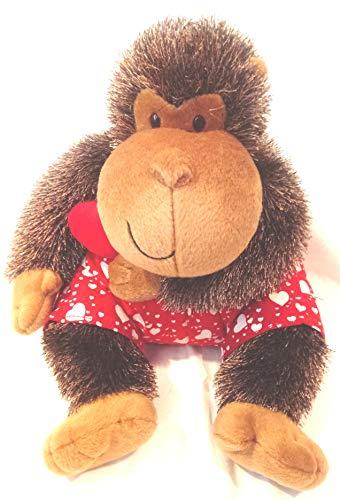 Boxer Shorts Ape Plush, Valentines Day APE, Kissed Monkey Stuffed ()
