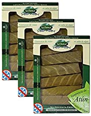 Ventresca de Atun en Salsa de Algas - Caja de 330 gr - Conservas La Chanca (Pack de 3)