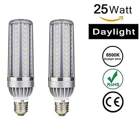 Toran Home Paquete de 2 Luces LED para maíz E26 / E27, 25W (Equivalente