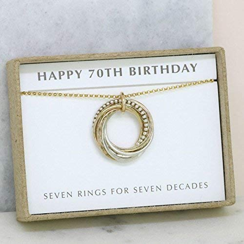 Amazon 70th Birthday Gift Necklace For Mother Sister Wife