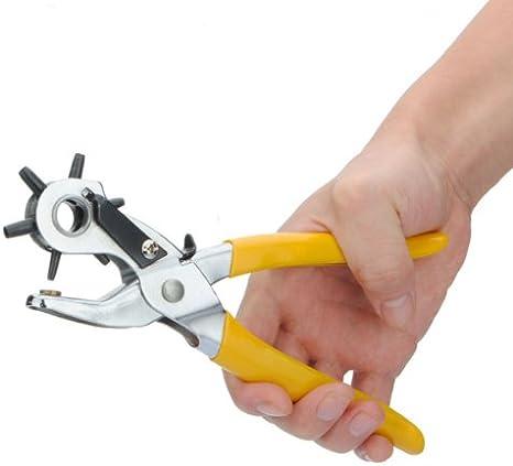 TM Pince revolver emporte-pi/èce trou Pince Ceinture Pince Pince /à /œillets en cuir Pince Pince Horloger Bracelet FamilyMall