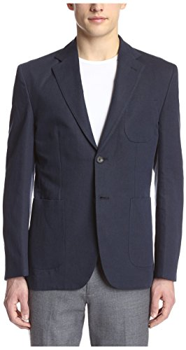 1eb77f741 Hardy Amies Men's 2 Button Patch Pocket Waffle Sportcoat, Navy 40R US