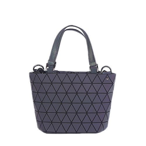 D Shoulder Briefcase Bags Laser Plain Style Handbags D Tote Quilted Small Small Geometry Folding Style aSanqOTH