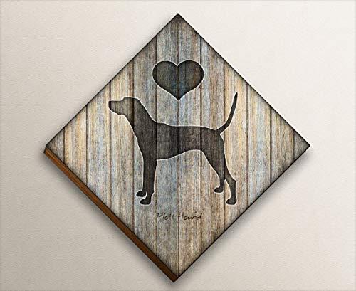(Plott Hound Diamond Shaped Mounted Dog Art Print by Dan Morris)