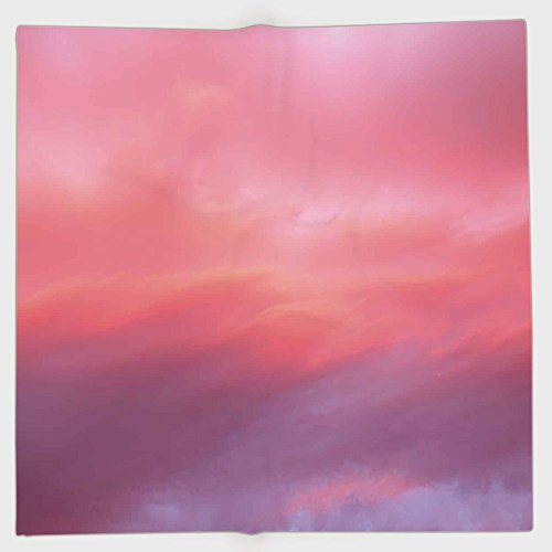 (iPrint Polyester Bandana Headband Scarves Headwrap,Coral,Beautiful Vanilla Sky with Clouds Tenderness Dreamy Unreal Soft Heavenly,Light Pink Coral Lilac,for Women)
