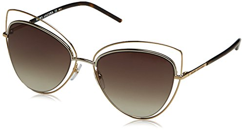 Marc Jacobs Women's Double Rim Cat Eye Sunglasses, Gold/Brown, One - Marc By Jacobs Cat Marc