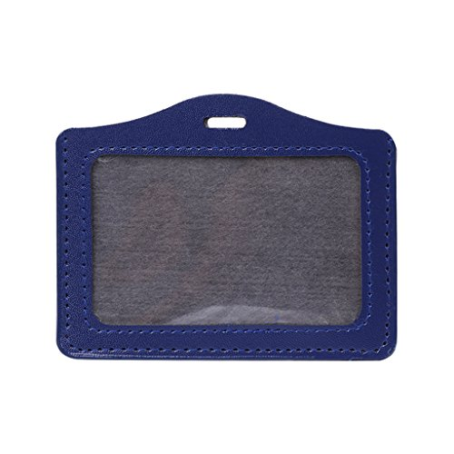 Horizontal Multi Card Holder - Qupida ID Window Business Work Card ID Badge Holder Case Badge Horizontal Type (Royal blue)