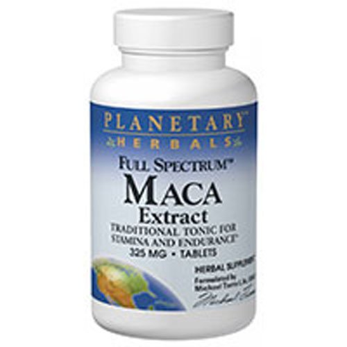 Full Spectrum Maca Extract, 325 mg, 60 Tabs by Planetary Herbals (Pack of 3) ()