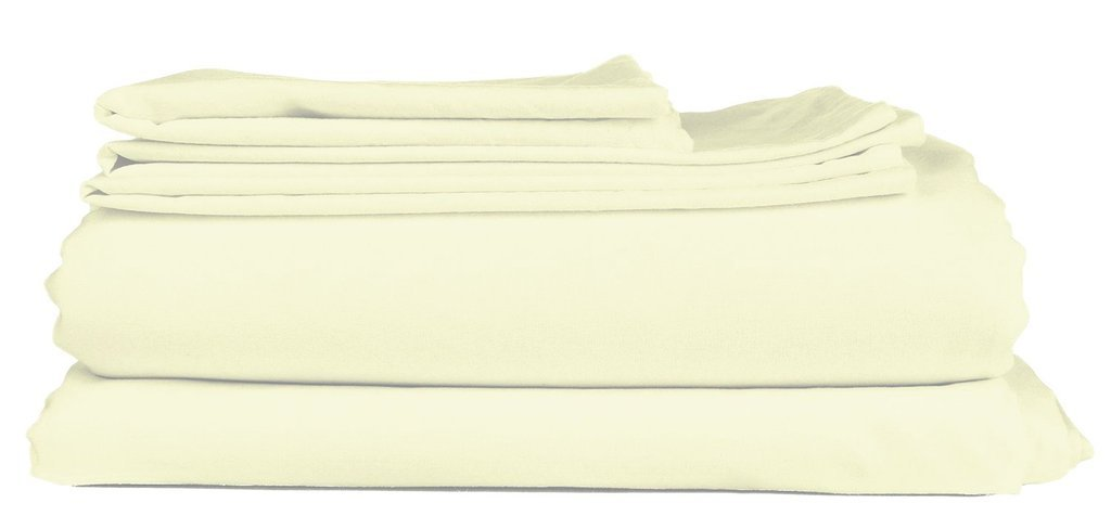 Mayfair Linen 100% Egyptian Cotton 400 Thread Count Percale Weave 4 Piece Sheet Sets - White Queen(1 Flat Sheet, 1 Fitted Sheet and 2 Pillow Cases)