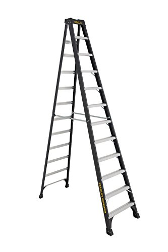 Stanley FatMax SXL3011-12 FatMax Fiberglass Step Ladder, 12-Foot, 300-Pound Load Capacity