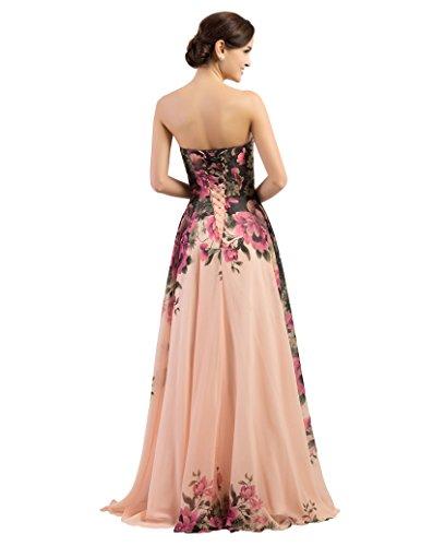 Floral Print Prom Dress
