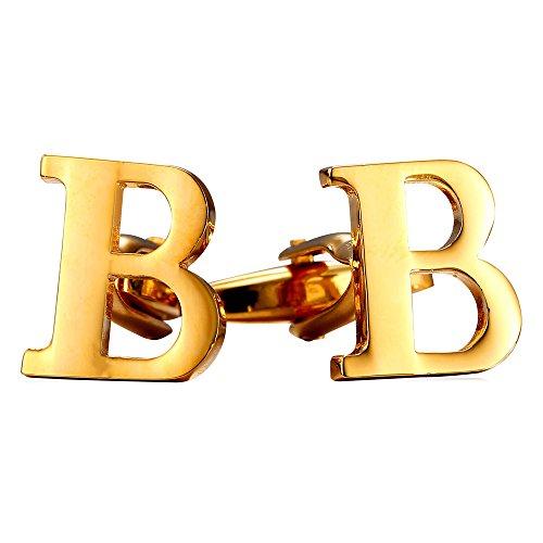 U7 Wedding Business Alphabet Cufflinks