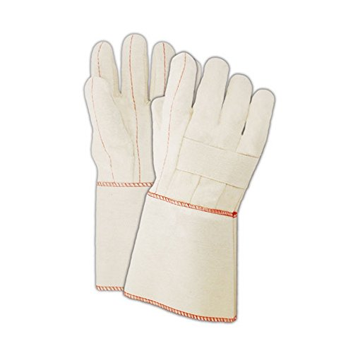 Magid Glove & Safety 95KGT Magid Heater Beater 20 oz. Cotton Canvas Hot Mill Gloves, Men's (Fits Large), Natural, Men's (Fits Large) (Pack of 12) ()