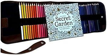 convient pour les /étudiants les peintres et les amateurs de peinture Red pour croquis crayons de couleur Benrise Secret Garden Trousse /à crayons pouvant contenir 184 crayons en polyur/éthane